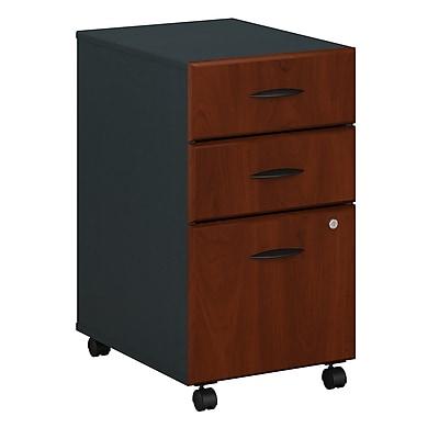 Bush Business Furniture Cubix 3 Drawer Mobile File Cabinet, Hansen Cherry/Galaxy (WC94453P)