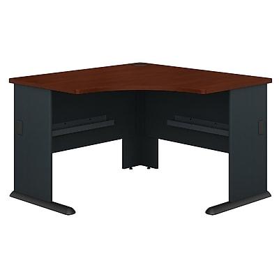 Bush Business Furniture Cubix 48W Corner Desk, Hansen Cherry, Installed (WC90466AFA)