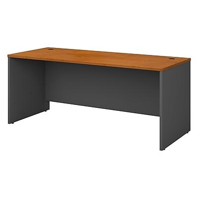 Bush Business Furniture Westfield 72W x 30D Office Desk, Harvest Cherry/Graphite Gray (WC72436)