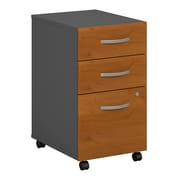 Bush Business Furniture Westfield 3 Drawer Mobile File Cabinet, Harvest Cherry/Graphite Gray (WC72453SU)