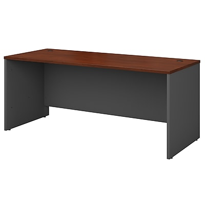 Bush Business Furniture Westfield 72W x 30D Office Desk, Hansen Cherry, Installed (WC24436FA)