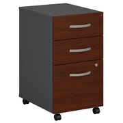 Bush Business Furniture Westfield 3 Drawer Mobile File Cabinet, Hansen Cherry/Graphite Gray (WC24453)
