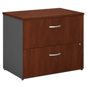Bush Business Furniture Westfield 36W 2 Drawer Lateral File Cabinet, Hansen Cherry/Graphite Gray (WC24454C)