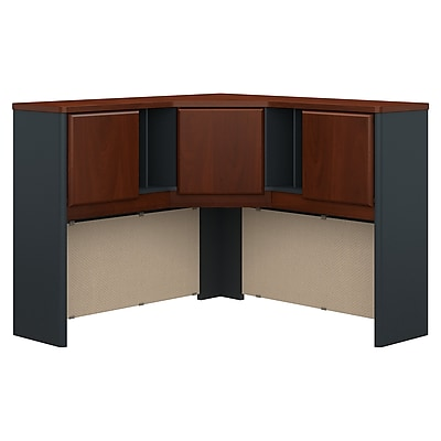 Bush Business Furniture Cubix 48W Corner Hutch, Hansen Cherry, Installed (WC94467PKFA)