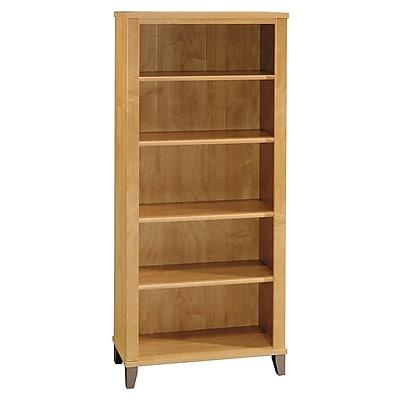 Bush Furniture Somerset 5 Shelf Bookcase, Maple Cross (WC81465)