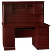 Bush Furniture Birmingham Office Desk with Hutch, Harvest Cherry (WC26620-03K)