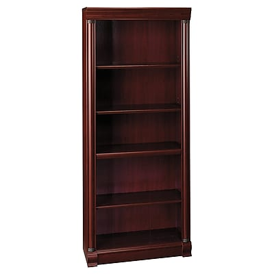 Bush Furniture Birmingham 5 Shelf Bookcase, Harvest Cherry (WL26665-03)