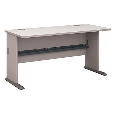 Bush Business Furniture Cubix 60W Desk, Pewter (WC14560)