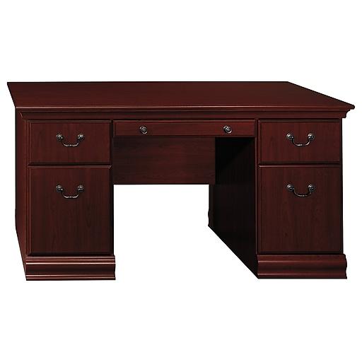 Bush Furniture Birmingham 60W Executive Desk, Harvest
