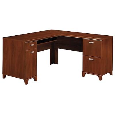 Bush Furniture Tuxedo L Shaped Desk, Hansen Cherry (WC21430K)