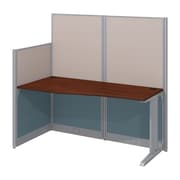 "Bush Business Furniture Office in an Hour 65""W x 33""D Cubicle Workstation, Hansen Cherry (WC36492-03K)"