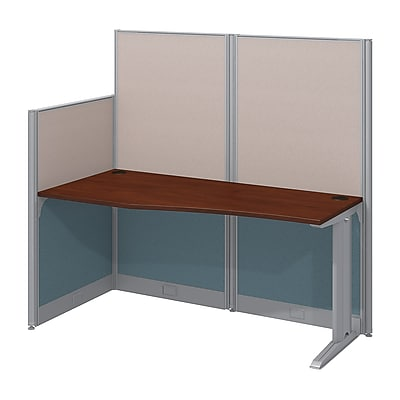 Bush Business Furniture Office in an Hour 65W x 33D Cubicle Workstation, Hansen Cherry (WC36492-03K)