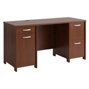 office desk for 2. Bush Furniture Envoy 58W Office Desk With 2 Pedestals, Hansen Cherry (PR76560K) For