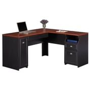 Bush Furniture Fairview L Shaped Desk, Antique Black/Hansen Cherry (WC53930-03K)