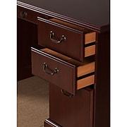 kathy ireland® Home by Bush Furniture Bennington Manager's Desk and Credenza, Harvest Cherry (BNT006CS)