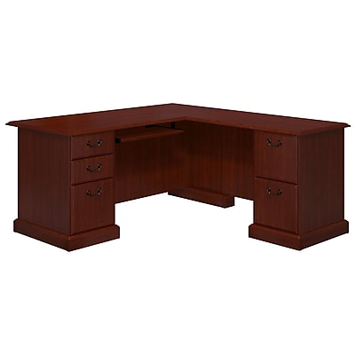 kathy ireland® Office by Bush Business Furniture Bennington L Shaped Desk, Harvest Cherry (WC65570-03K)