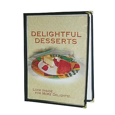 Deluxe 2-Panel Menu Cover, 10/Pack