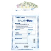 "Deluxe Tamper Evident Security Cash Deposit Bag, 9"" x 12"", 100/Pack (W414-100)"