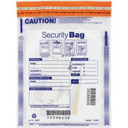 "Deluxe Single Pocket Deposit Bag, Clear, 9"" x 12"" , 100/Pack (W53849-100)"