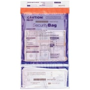 "Deluxe Tamper Evident Security Cash Deposit Bag, 9-1/2"" x 15"", 100/Pack (W53858-100)"