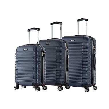 "InUSA New York Lightweight Hardside Spinner 3 Piece Luggage Set 20"" & 24"" & 28"", Navy Blue"