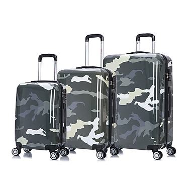 InUSA PRINTS Lightweight Hardside Spinner 3 Piece Luggage Set 20