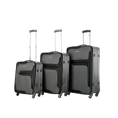 InUSA 3D-City Lightweight Softside Spinner 3 Piece Luggage Set 20