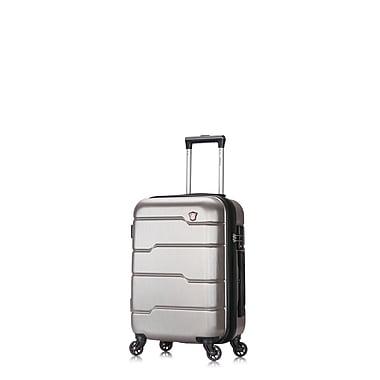 DUKAP Rodez Lightweight Hardside Spinner Luggage, Silver