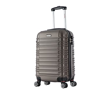 InUSA New York Lightweight Hardside Spinner Luggage, Brown