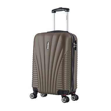 InUSA Chicago Lightweight Hardside Spinner Luggage, Brown