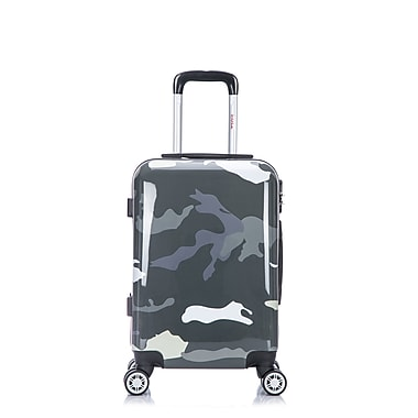 InUSA PRINTS Lightweight Hardside Spinner Luggage, Green Camouflage