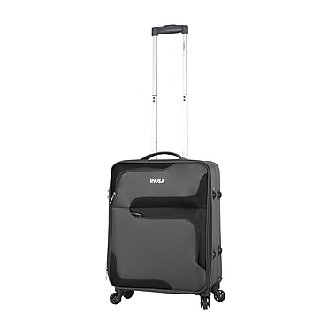 InUSA 3D-City Lightweight Softside Spinner Luggage, 20