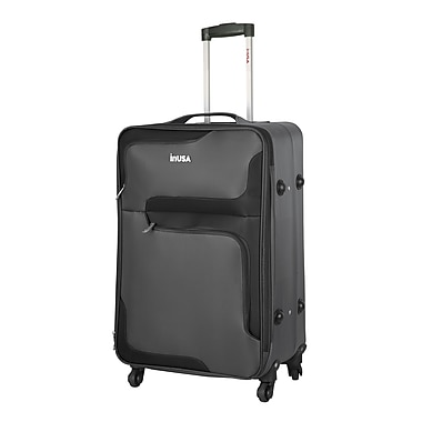 InUSA 3D-City Lightweight Softside Spinner Luggage, 28