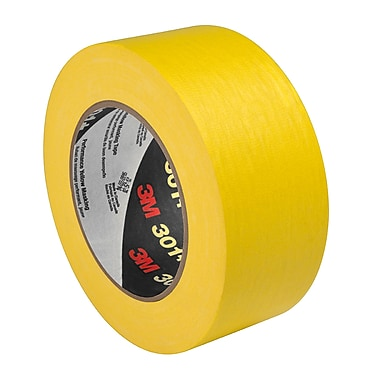 3M 301+ Performance Masking Tape Yellow 10in x 60yd, (1 Roll)