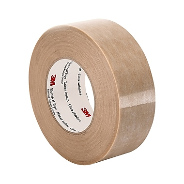 3M 44 Polyester Film/Polyester Web Film Coated Electrical Tape 1.625in x 90yd (1 Roll)