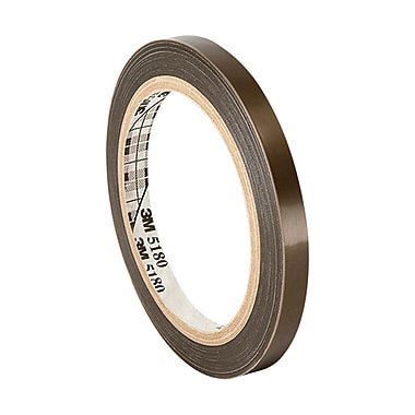 3M 60 PTFE Film Electrical Tape With Silicone Adhesive 0.5in x 36yd (1 Roll)
