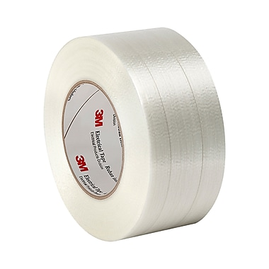 3M 1139 Polyester Film/Glass Filament Reinforced Electrical Tape with Acrylic Pressure-Sensitive Adhesive 2in x 60yd (1 Roll)