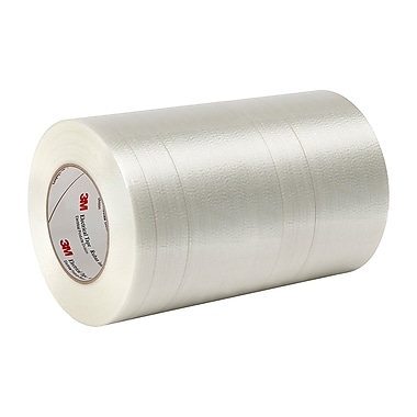 3M 1339 Polyester Film/Glass Filament Reinforced with Acrylic, Pressure-Sensitive Adhesive Electrical Tape 10in x 60yd (1 Roll)