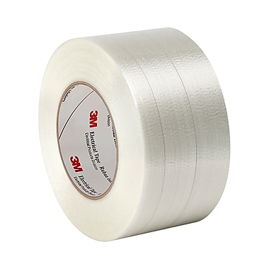 3M 1139 Polyester Film/Glass Filament Reinforced Electrical Tape with Acrylic Pressure-Sensitive Adhesive 4.72in x 60yd (1 Roll)