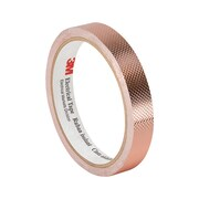 """3M 1245 Embossed Copper Foil Tape, 1.125"""" x 18yd"""