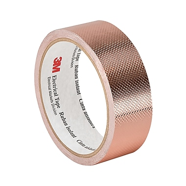 3M 1245 Embossed Copper Foil Tape, 1.75
