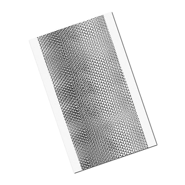 3M 1267 Embossed Aluminum Foil Tape, 4