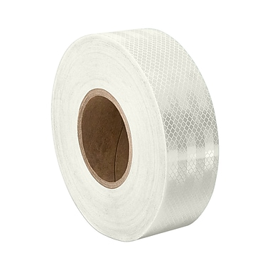3M 3430 White Micro Prismatic Sheeting Reflective Tape, 0.5