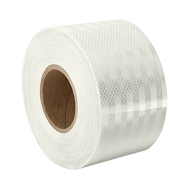 3M 3430 White Micro Prismatic Sheeting Reflective Tape, 2.5
