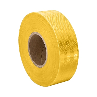 3M 3431 Yellow Micro Prismatic Sheeting Reflective Tape, 1.375