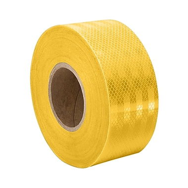 3M 3431 Yellow Micro Prismatic Sheeting Reflective Tape, 1.75