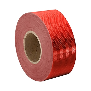 3M 3432 Red Micro Prismatic Sheeting Reflective Tape, 3