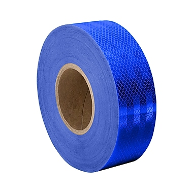 3M 3435 Blue Micro Prismatic Sheeting Reflective Tape, 1.625