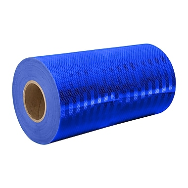 3M 3435 Blue Micro Prismatic Sheeting Reflective Tape, 9