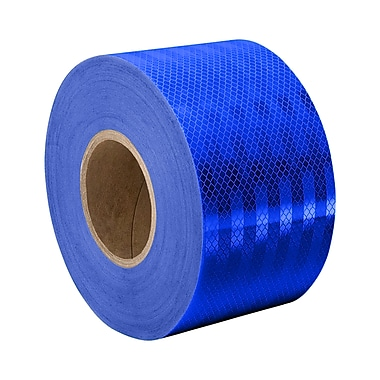3M 3435 Blue Micro Prismatic Sheeting Reflective Tape, 2.83